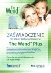 Zaświadczenie o korzystania przez stomatologa w Katowicach w Duo Medica z aparatu The Wand